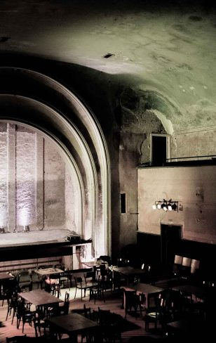 Site- specific theatre.</br>I like to get stories from places.</br>They inspire me</br>to create theatre there.